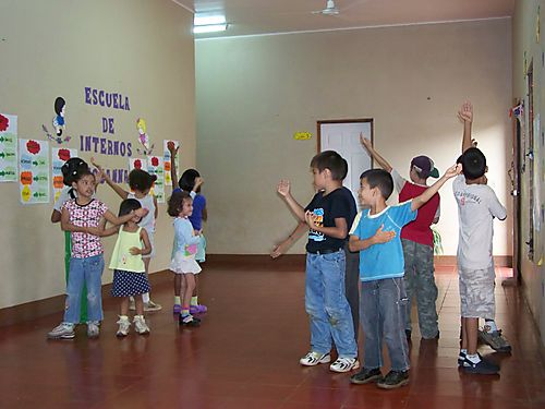 Kids dance for us